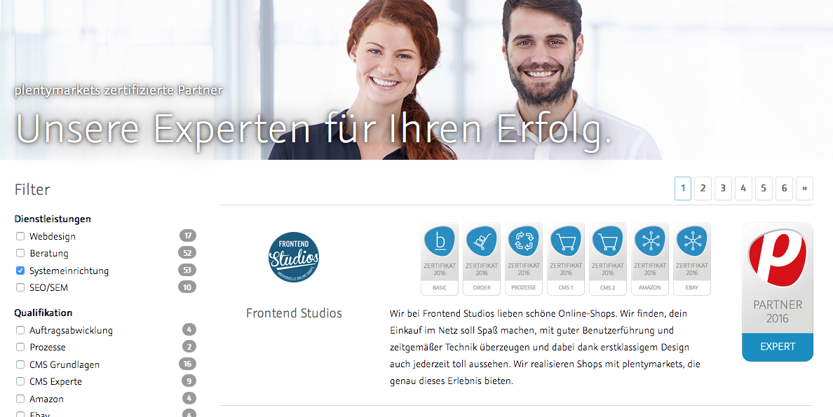 plentymarkets Partnersuche