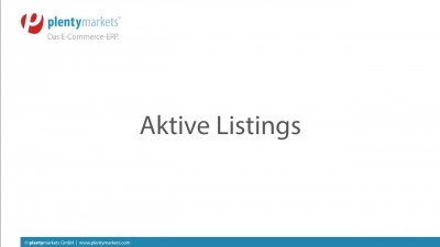 Bild Aktive Listings