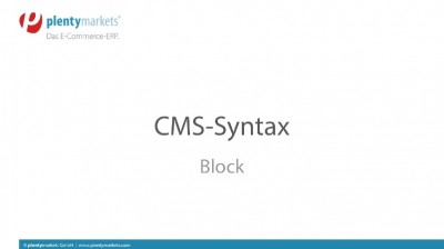 CMS-Syntax // Code-Block