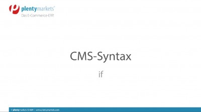 CMS-Syntax // if