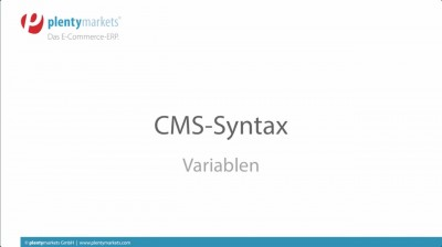 CMS Syntax // private Variablen / Template-Variablen / globale Variablen