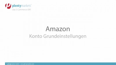 Amazon // Grundeinstellungen