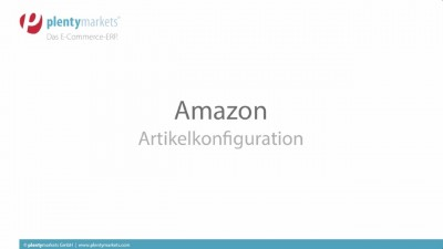 Amazon // Artikelkonfiguration