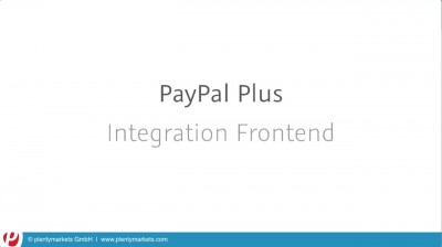 PayPal Plus // Frontend Integration