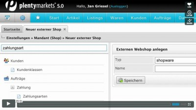 Einstellungen in plentymarkets 5.0