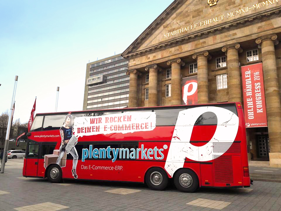 plentymarkets Tourbus