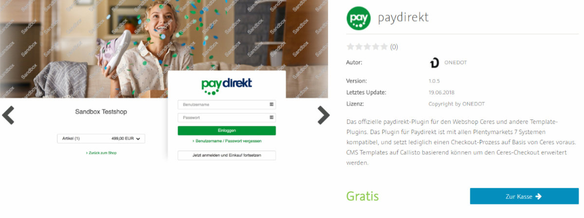 paydirekt plentymarkets Plugin