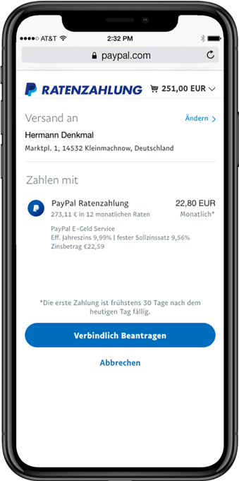 Paypal-iPhone-Ratenzahlung